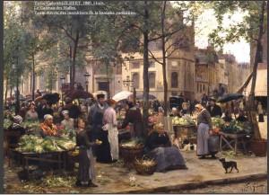 Victore-Gabriel-GILBERT-Le-Carreau-des-Halles-1880